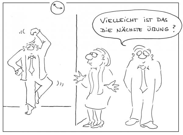 betriebliches Gesaundheitsmanagement mit Business Cartoons Image 1