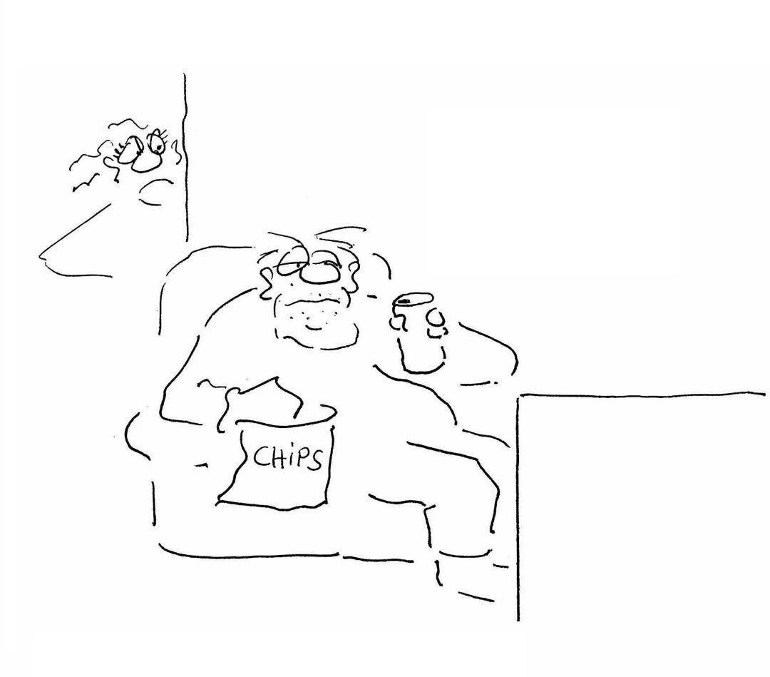 Fitness Cartoon vorher Bild