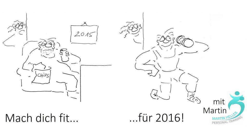 Fitness Cartoons Header Bild