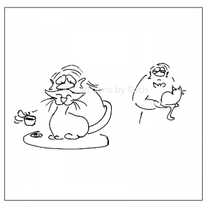 Cartoon-Wiener-Kaffee-Kater-Kaffee