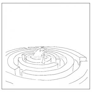 Cartoon Motiv Der Weg ist das Ziel Produktbild