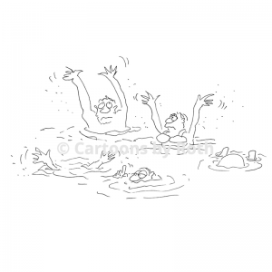 Cartoon Aquagymnastik