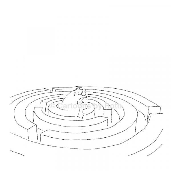 Cartoon Der Weg ist das Ziel Produktbild