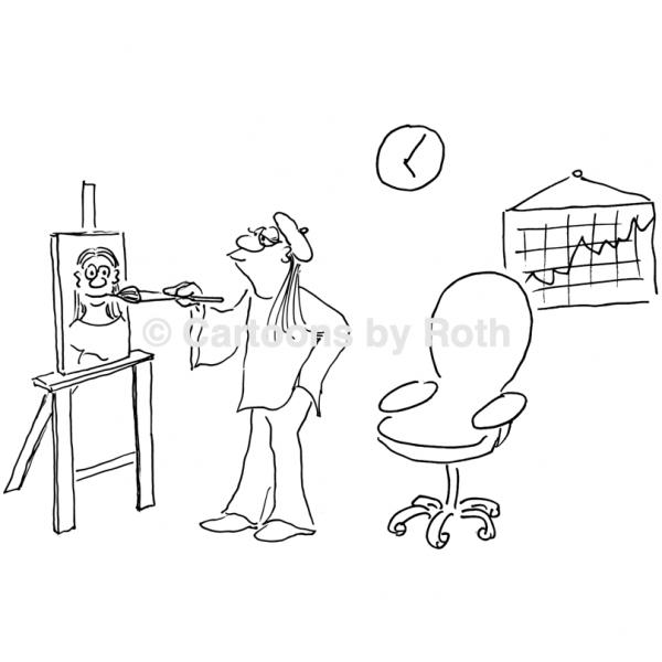 Cartoon Führungskompetenz Kreativität