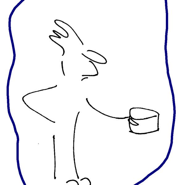 Cartoon Figur Skizze Führungskraft