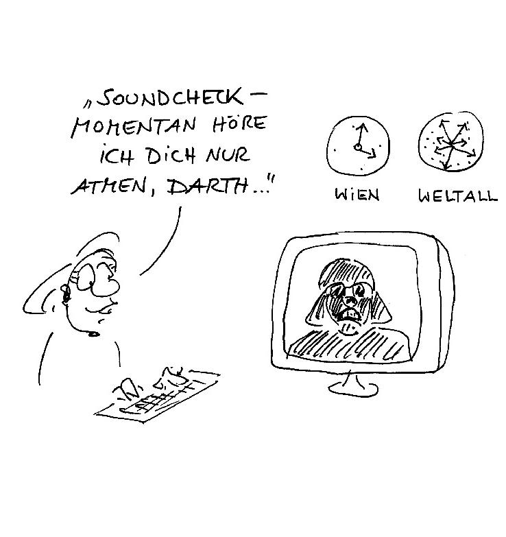 Cartoon Vernissage Darth Vader
