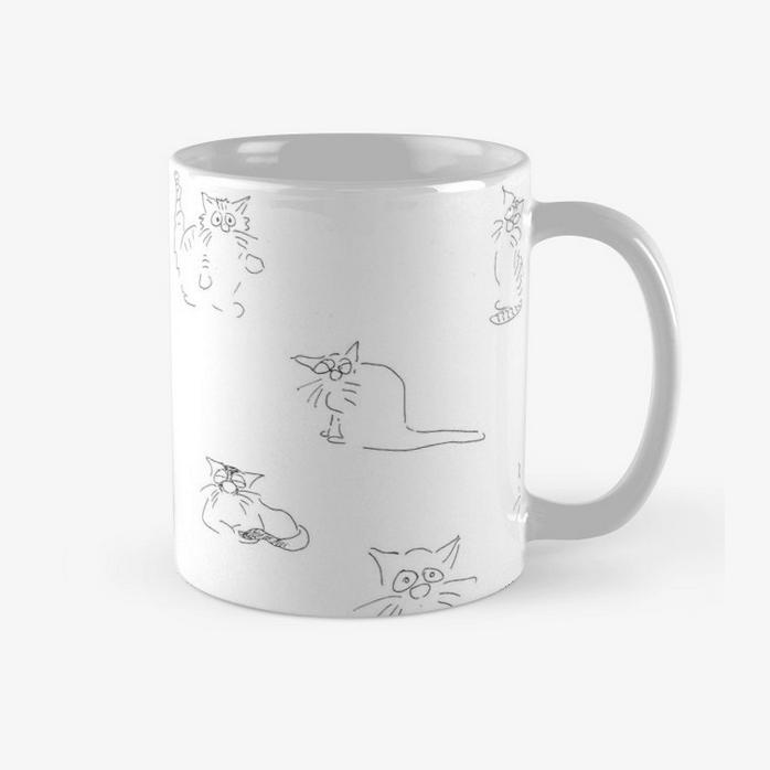 Katzen Tasse Katzenvariationen Cartoon by Roth