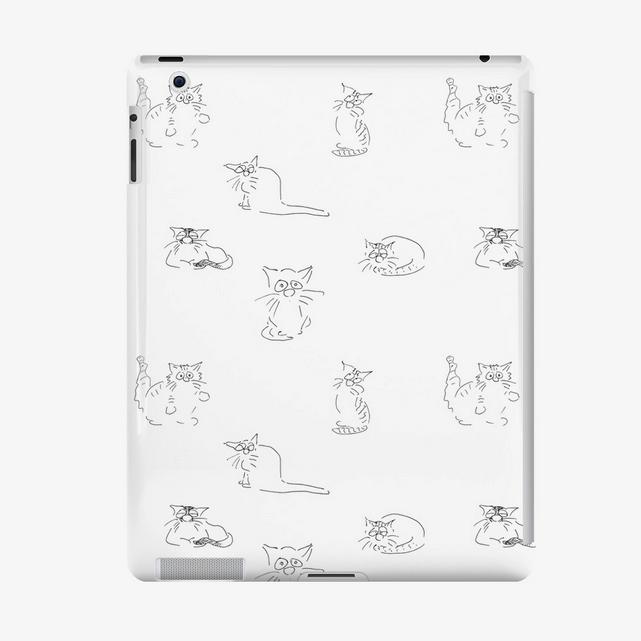 """Katzen iPad Hülle """"Katzenvariationen"""" Cartoons by Roth"""