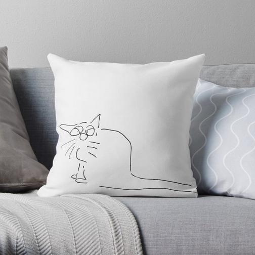 Cartoon Schlechte Laune Kätzchen Kissen