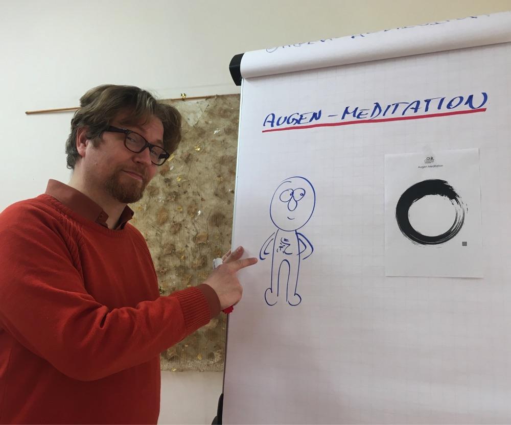 Visual Storytelling mit selbstgezeichneter Figur Qi Gong Kleinowitz