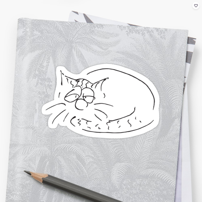 Sticker Schlafender Kater Cartoons by Roth image
