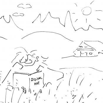 Visual Storytelling in einem Bild Ferien Cartoon