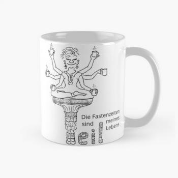 """Tasse mit Cartoon Motiv """"Fasten Feeling"""""""