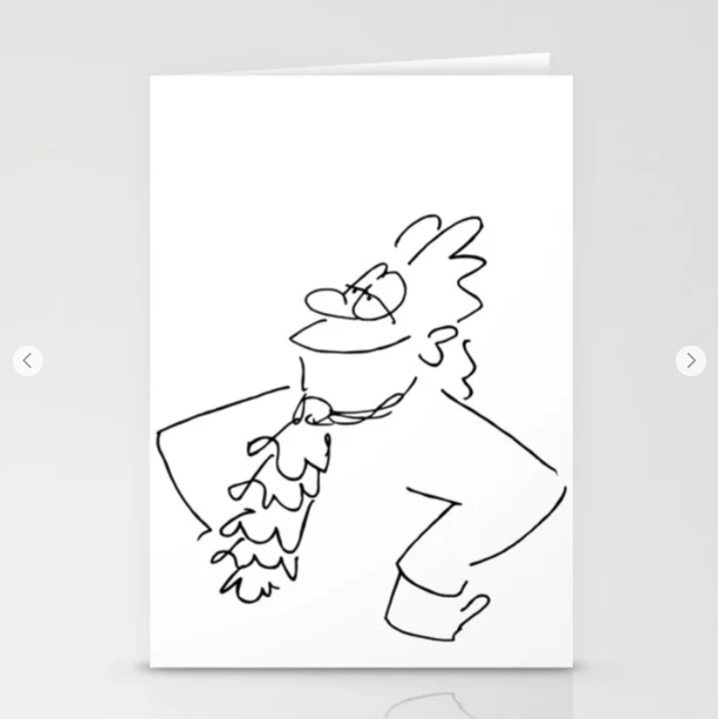 Cartoonsbyroth Billet Karte Bach Design