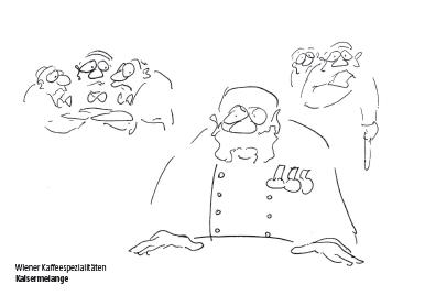 Wiener Kaffeespezialialität Kaisermelange Cartoon Shop Produktbild