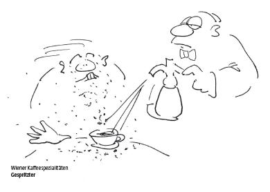 Wiener Kaffeespezialität Gespritzer Cartoon Shop Produktbild