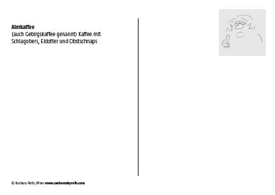 Postkarte Rückseite mit Rezept