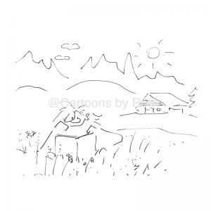 der perfekte Urlaub Cartoon Shop Imagebild