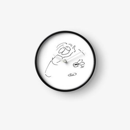 Uhr Cartoon Kaffee Genießer Produktbild