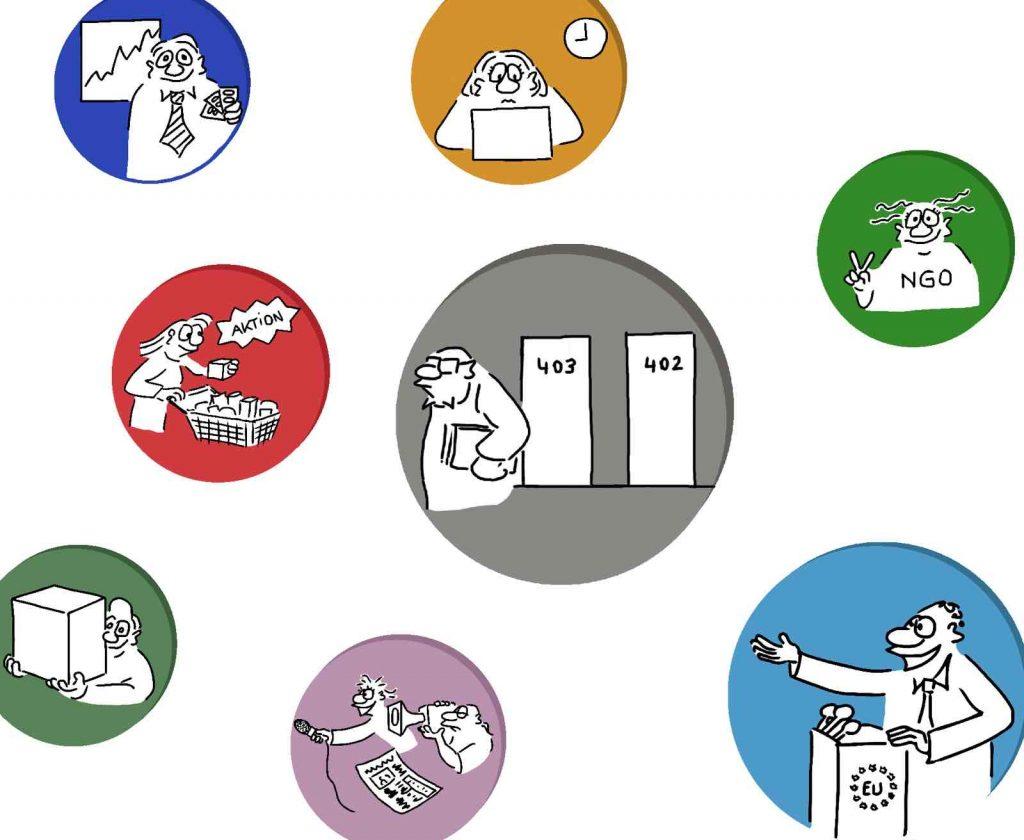 CSR Cartoons - Stakeholder Icons Imagebild