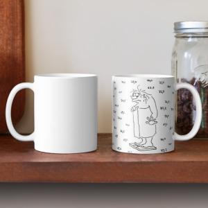 Tasse Diät halten Cartoon Shop Produkt Bild