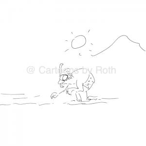 Am Strand, wo die Steine sind - Verliebt ins Detail Cartoon Shop Produktbild