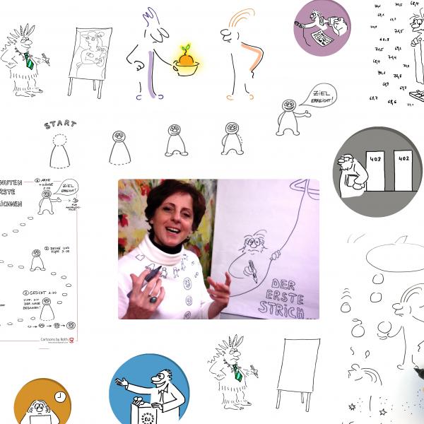 Lebenstraum Cartoonistin Header Imagebild Blogartikel
