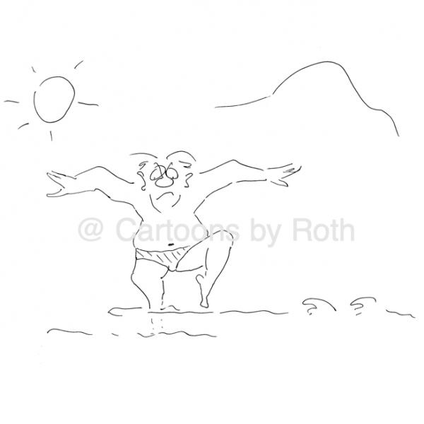 Am Strand, wo die Steine sind - wenn ich ein Vöglein wär' Cartoon Shop Produktbild