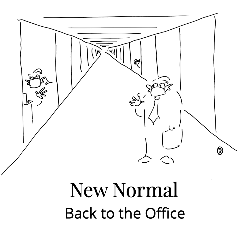 Cartoon Shop New Normal Back to the Office