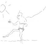 Sommerurlaub Blogartikel Cartoon Serie Motiv 1