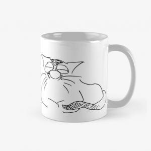 Kaffeetasse Der Chef ist schläfrig Katzen Cartoon Shop Produkt Bild