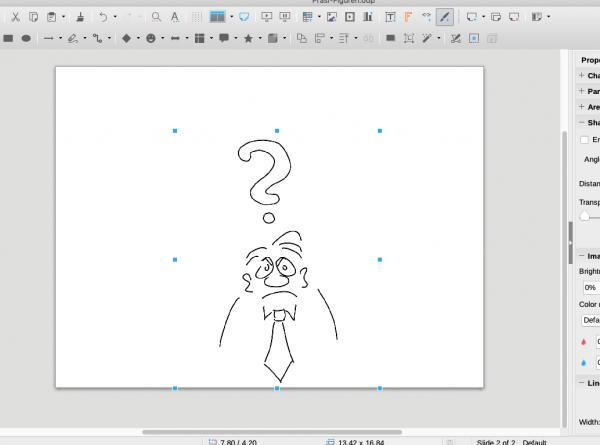 Cartoonfigur für Präsentationen Fragezeichen Mann für ppt