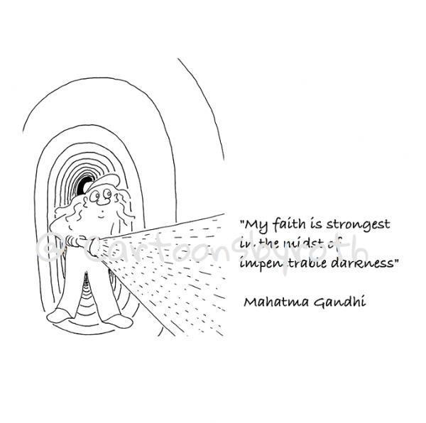 Gandhi Zitat Dunkelheit