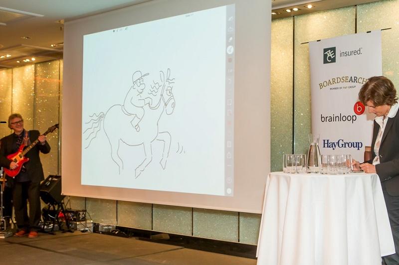 Cartoon Live-Zeichnen Key Note Aufsichtsratsgala Image Bild