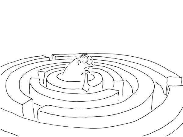 Cartoon Motiv Der Weg ist das Ziel