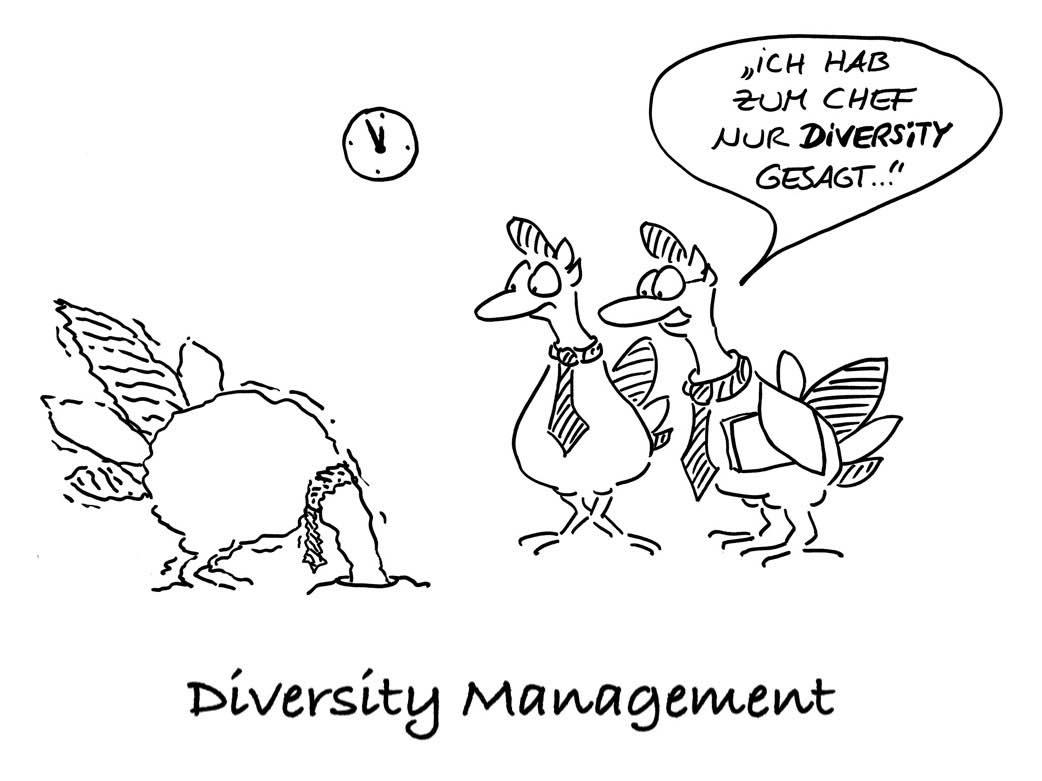 Diversity-Management Cartoon des Tages