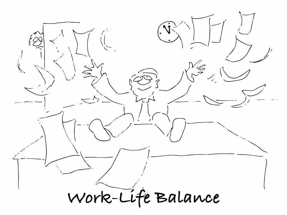 Work-Life-Balance-Cartoon-Online-Shop-Startseite