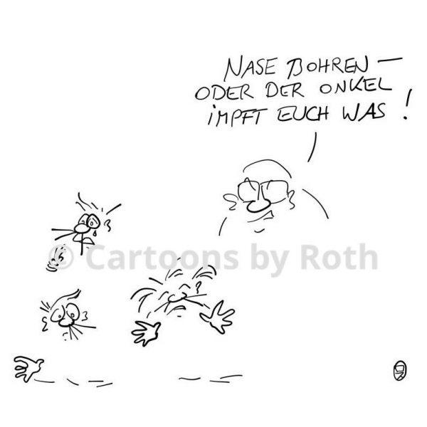 Cartoon Nasenbohr Test Produktbild