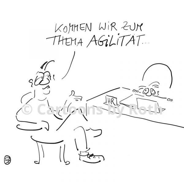 Agilität Cartoon Produktbild