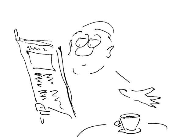 Buchillustrationen Wiener Kaffee Satir