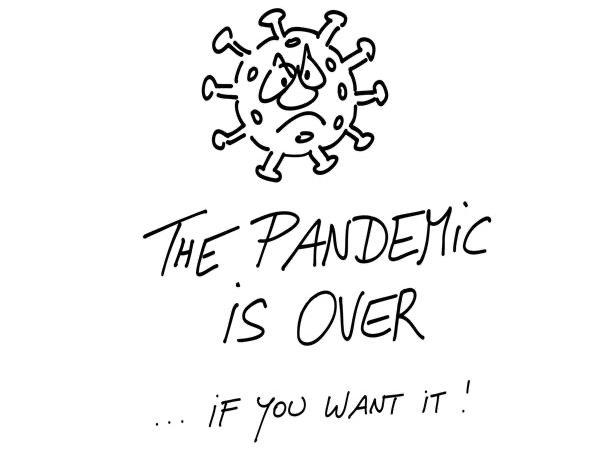 Cartoon des Tages Die Pandemie ist vorbei