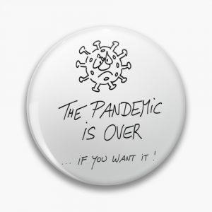 Button Pandemie ist vorbei Produktbild