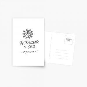Postkarte Pandemie vorbei Produktbild